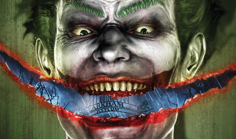 asylum, arkham, batman, joker, games, smile, desktop, computer, full, you, image,