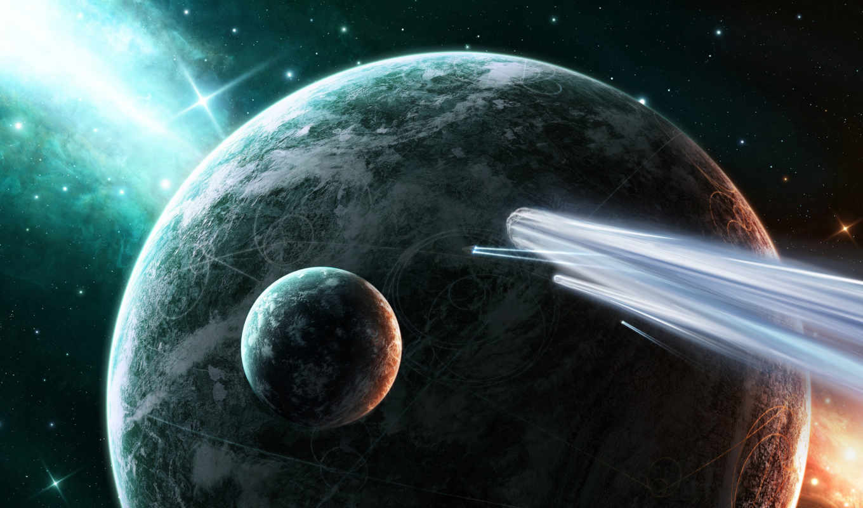 earth, корабли, billion,, звезды, away, кометы, планеты, light, years, stars, space,