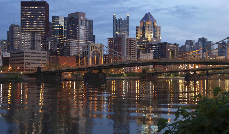 pittsburgh, ohio, stock, река, pennsylvania, мост, photos,