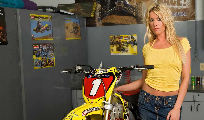 girl, bike,