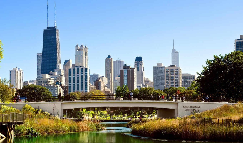 chicago, день, dsc, skyline, ночь,