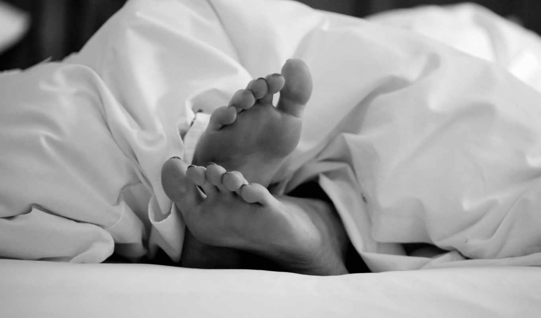 feet, кровать, ноги, сон, people,