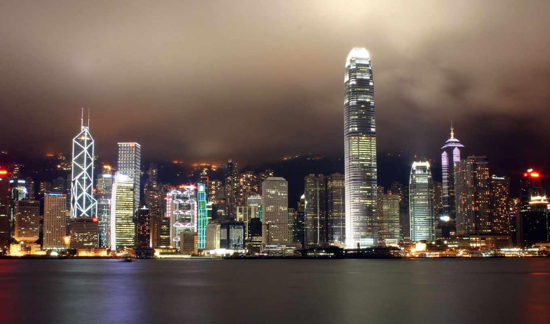 kong, города, hongkongbynight, city, hong, ocean, night, ville, код, fondos, nuit, sur,