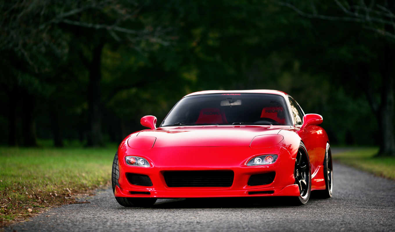 mazda, red, красная, front, rx-7, картинку, картинка,
