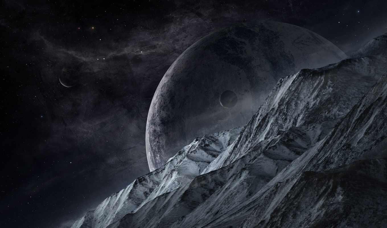 kosmos, планеты, поверхность, космоса,