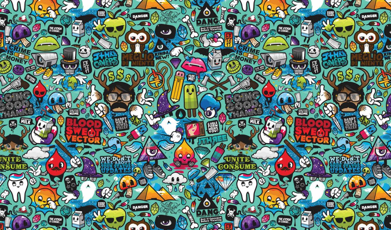 цветные, графика, маленькие, абстракции, рисунок,