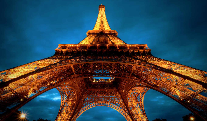 париж, башня, франция, эйфелева, города,