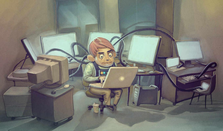 хакер на рабочий стол, обои , хакер - apple