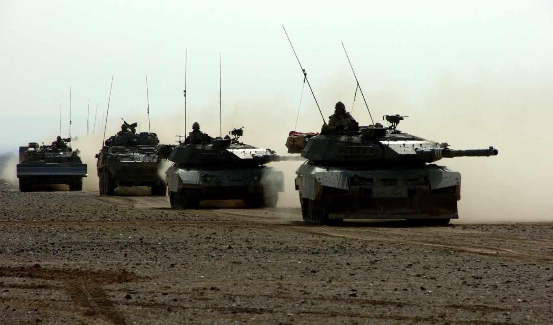 танк, конвой, leopard, техника, германия, война,