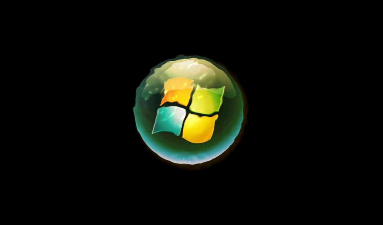 windows, logo, water
