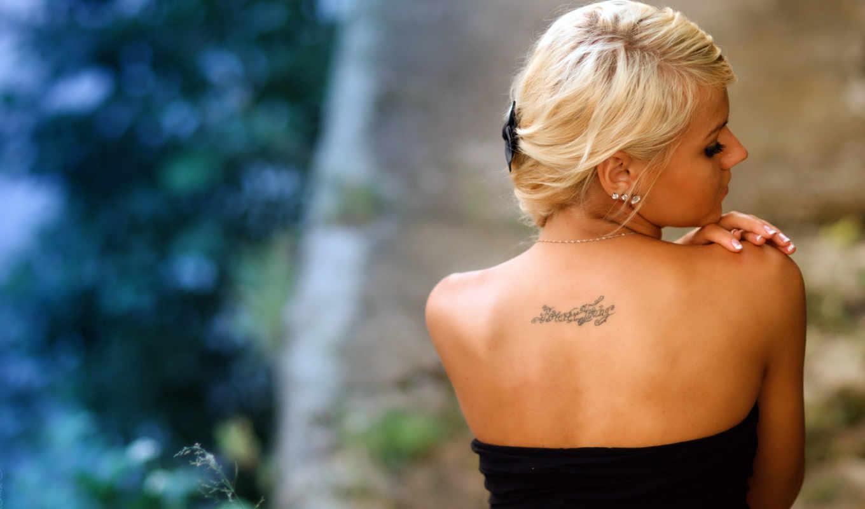 спины, со, блондинок, blonde, спина, девушек, девушка,