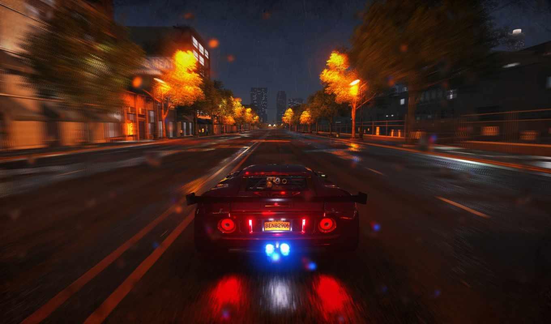 дорога, aoc, ночь, скорость, авто, мониторы, фона,
