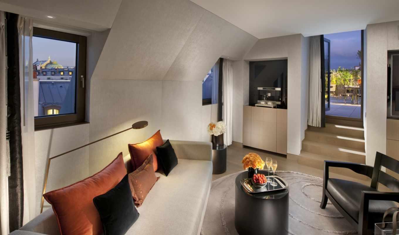 интерьер, балкон, дизайн, подушки, комната, диван, цветы, столик, шампанское, ковёр, кресло, mandarin, oriental, отель, картинку,