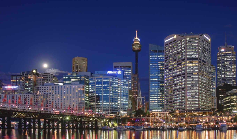 австралия, сидней, обою, смотреть, истинном, размере, небо, sydney, город,