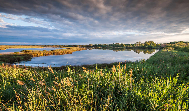 природа, небо, camargue, petite, oblaka, картинка, озеро, landscape, франция, iphone,