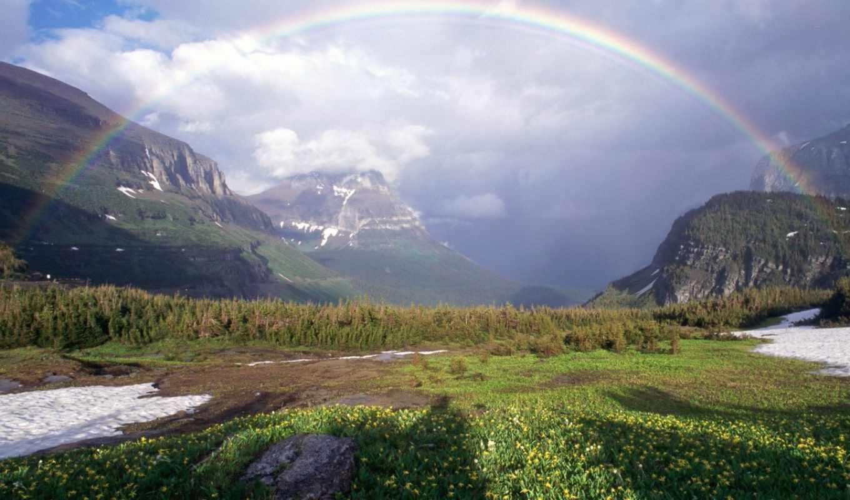 радуга, природы, природа, радуги,