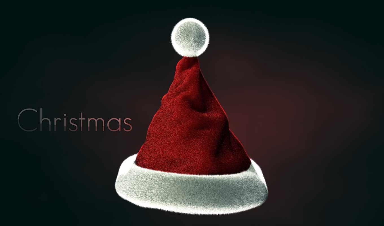 santa, hat,