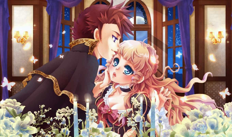 anime, плачут, когда, чайки, девушка, devushki, бабочки, umineko, парень,