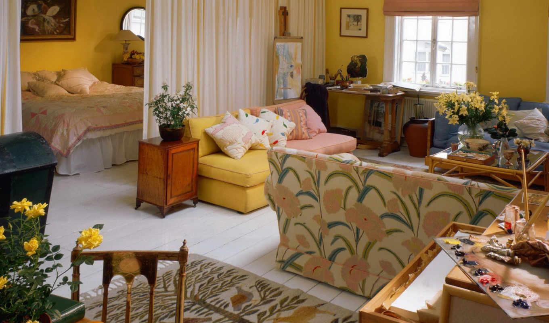 квартиры, dizain, однокомнатной, маленькой, интерьера, interer, янв, квартире,