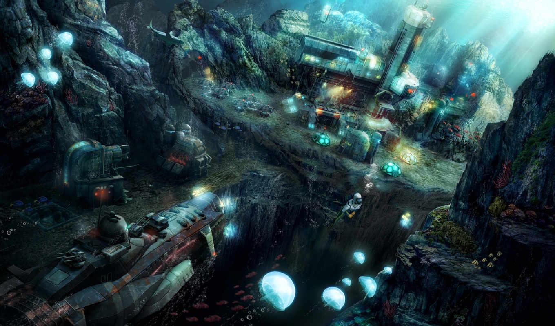 anno, underwater, world, deep, ocean,