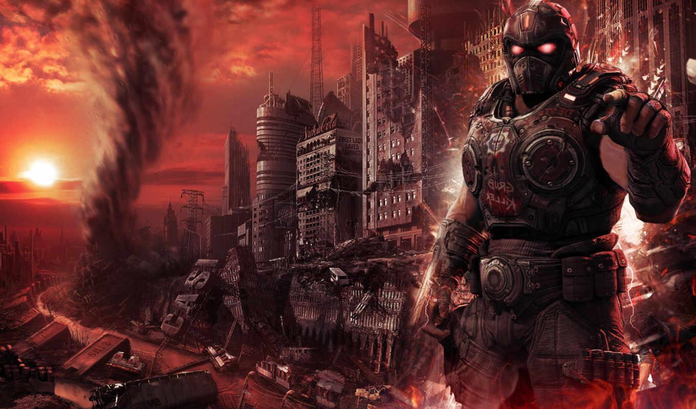fallout, город, рисованное, trucchi, стихия, they, апокалипсиса, после, свалка, руины,