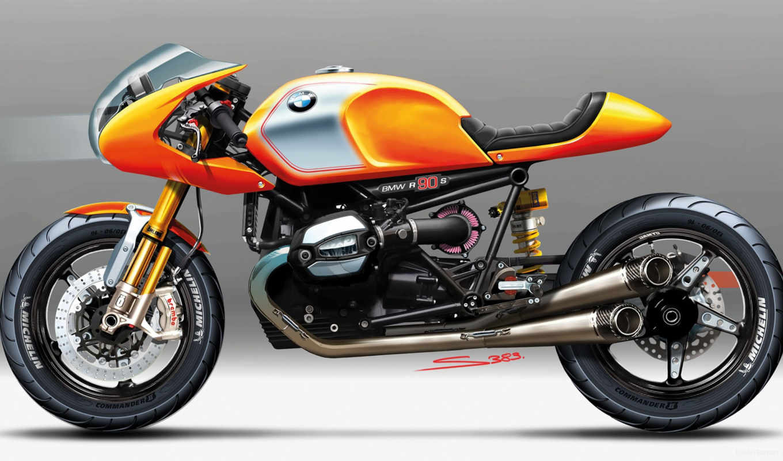 bmw, ninety, мотоцикл, concept, ninet,