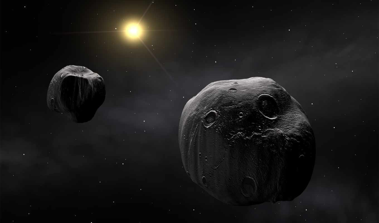 космос, астероиды, астероид, тела, гигантские, antiope, метеорит, eso, une, sich, pack, best, aus, корабль,