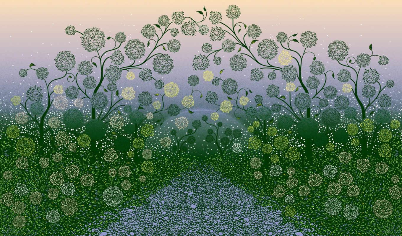 windows, растения, узор, точки, seven, background