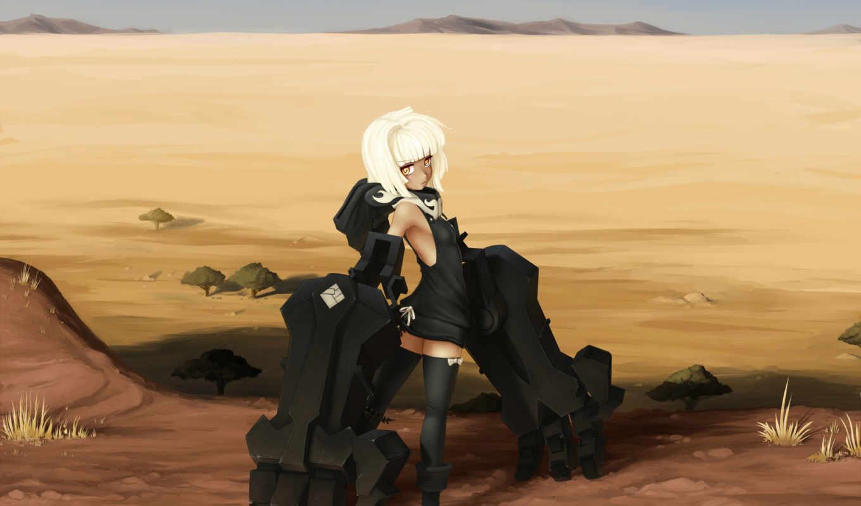 пустыня, art, оружие, металл, девушка, руки, black, shooter, rock,