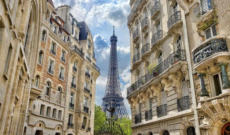 париж, франция, башня, эйфелева, eiffel,