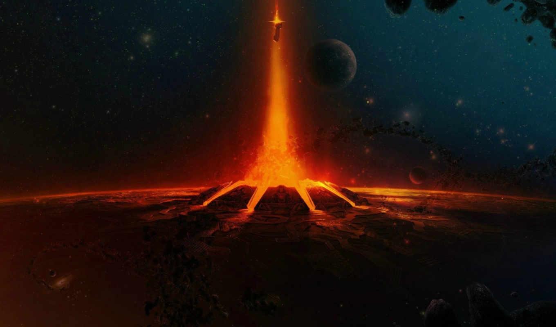 halo, космос, john, wake, outer, корабль, огонь, planets,