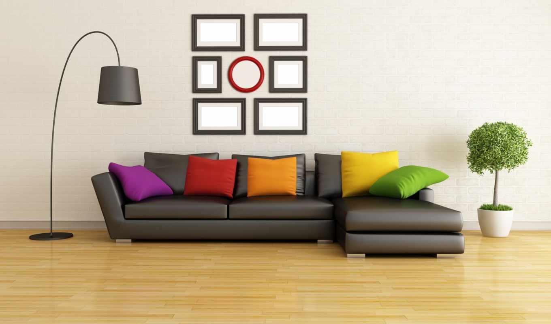 диван, интерьер, графика, подушками, картинка, мебель, комната, design, метки, подушки,