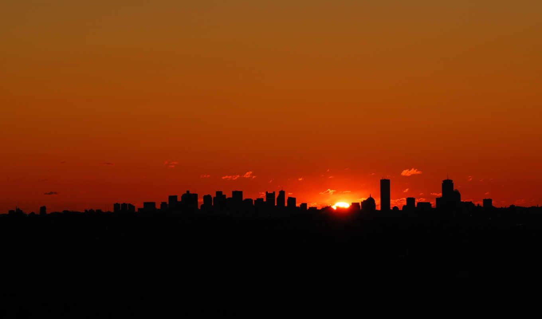 cities, sunset, sky, nightlife, dark, city, normal, изображение,