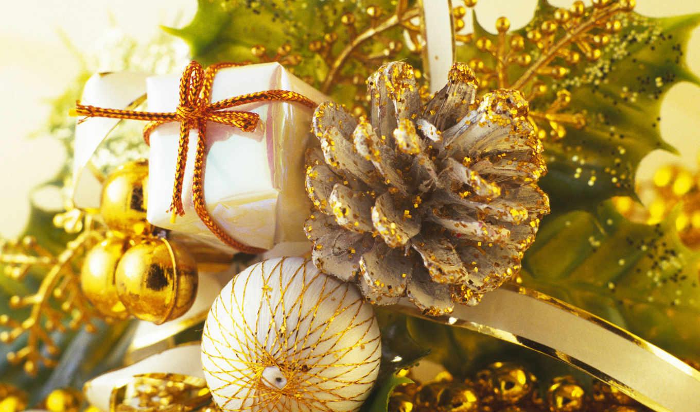 игрушки, елочные, шишка, блестки, золото, год, christmas, новогодние, present,