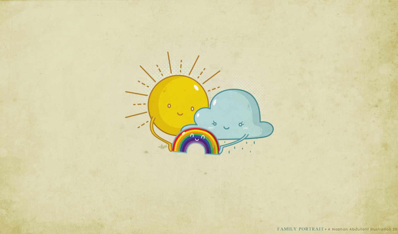 радуга, семья, солнце, радость, туча, funny, pictures, gag, добра, картинку, comics, portrait, nabhan,