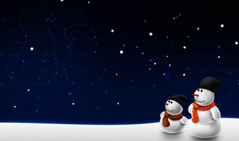 desktop, картинка, download, год, новый, christmas, снеговики,