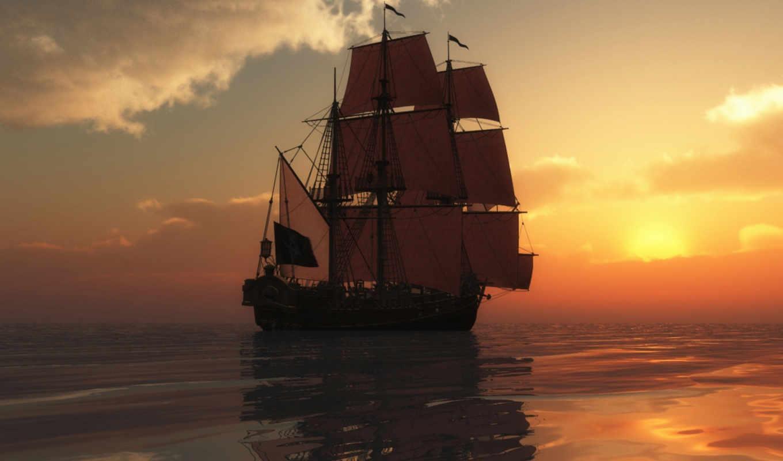 корабли, корабль, море, широкоформатные, яхты,