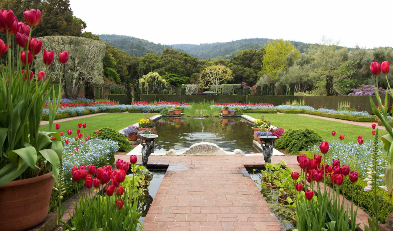 bodnant, garden, gardens, wales, north, дек, сада,