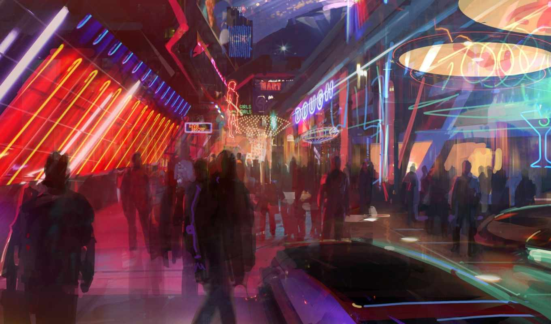 effect, mass, art, concept, цитадель, bioware, разрешением, game, megapolice, cyberpunk, люди,