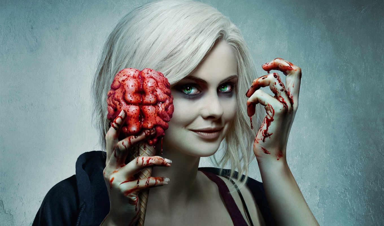 mciver, роза, izombie, high, зомби, мозги, тв,
