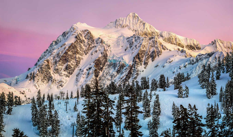 сша, park, state, national, горы, washington, mount, shuksan, usa, картинка, природа,
