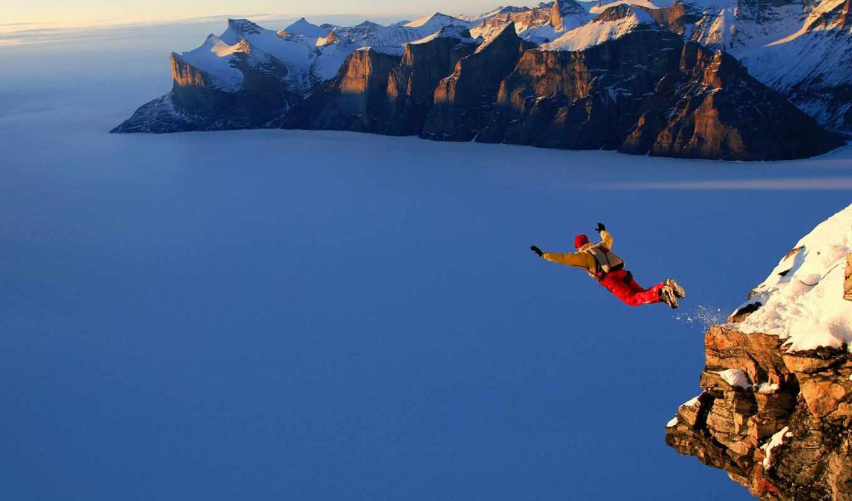 спорт, прыжок, гора, парашютный, ekstrit, height, снег, взгляд, adsense, sporty, adsbygoogle