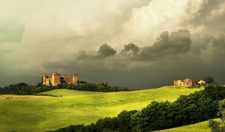 tuscany, красивые, italy, поле, пейзажи -, trequanda, landscape, разное, природа, фотографий,