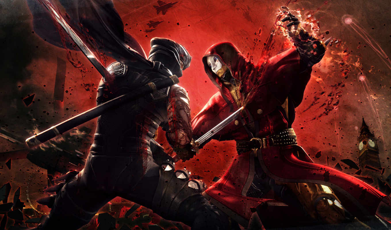 ninja, gaiden, насилие, мар,