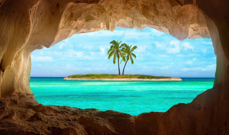 остров, море, caribbean, palm, место, visa, санкт, природа