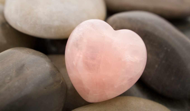 сердце, камни, розовый, макро