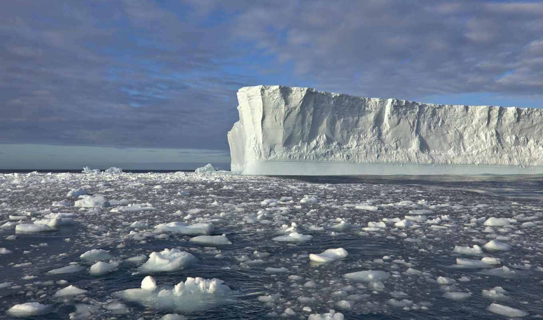 айсберги, iceberg, природа, дня,