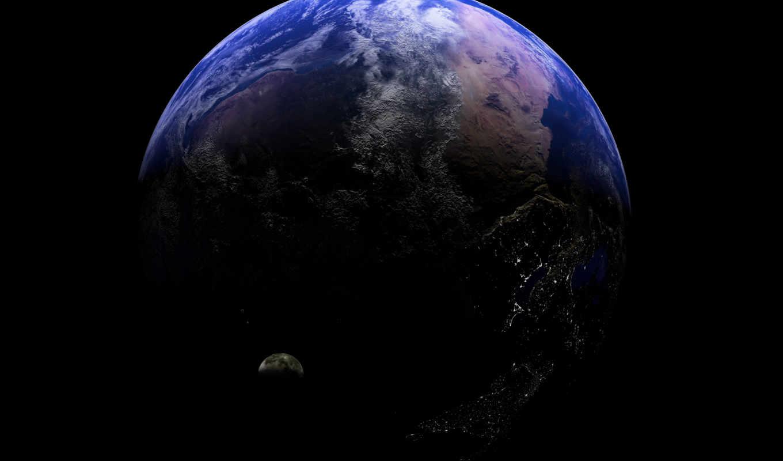 cosmos, land, planet, спутник, планеты, картинка,