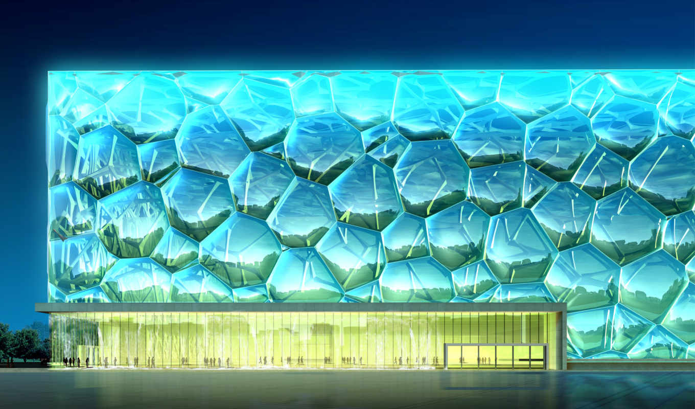 cube, water, architectural, renderings, download,