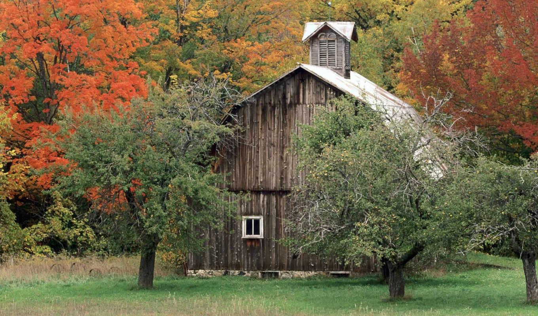 barn, осень, чтобы, rustic, картинку, природа, leelanau, free, desktop, spring, county,